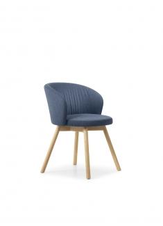 Biala stoel houtframe