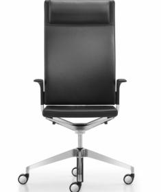 Luxe leren Camiro Girsberger bureaustoel